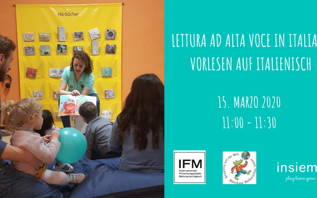 Lettura ad alta voce in italiano presso la 14. Münchner Bücherschau Junior