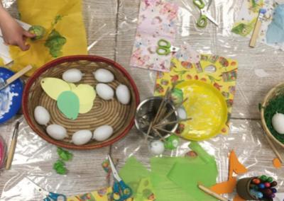 Uova di Pasqua con il decoupage